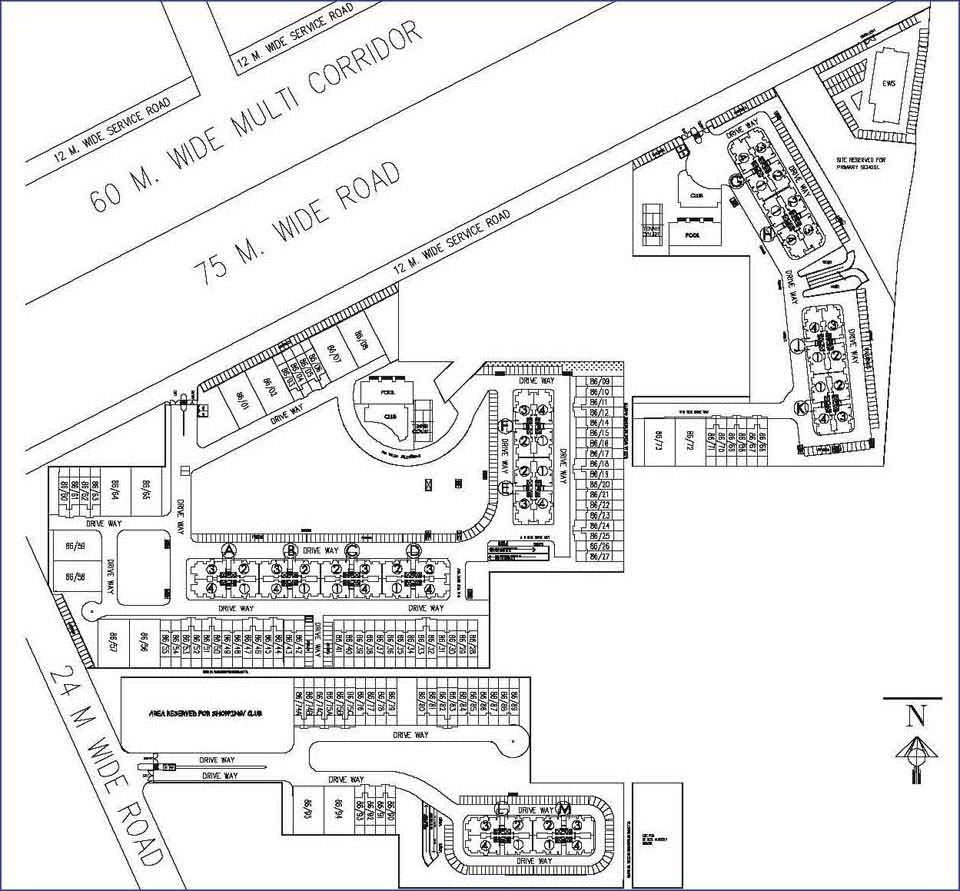 DLF New Town Heights site plan sec-86